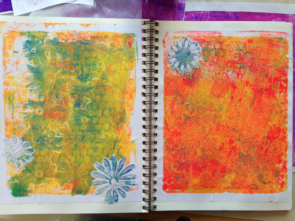 Gelli Plate Background 1