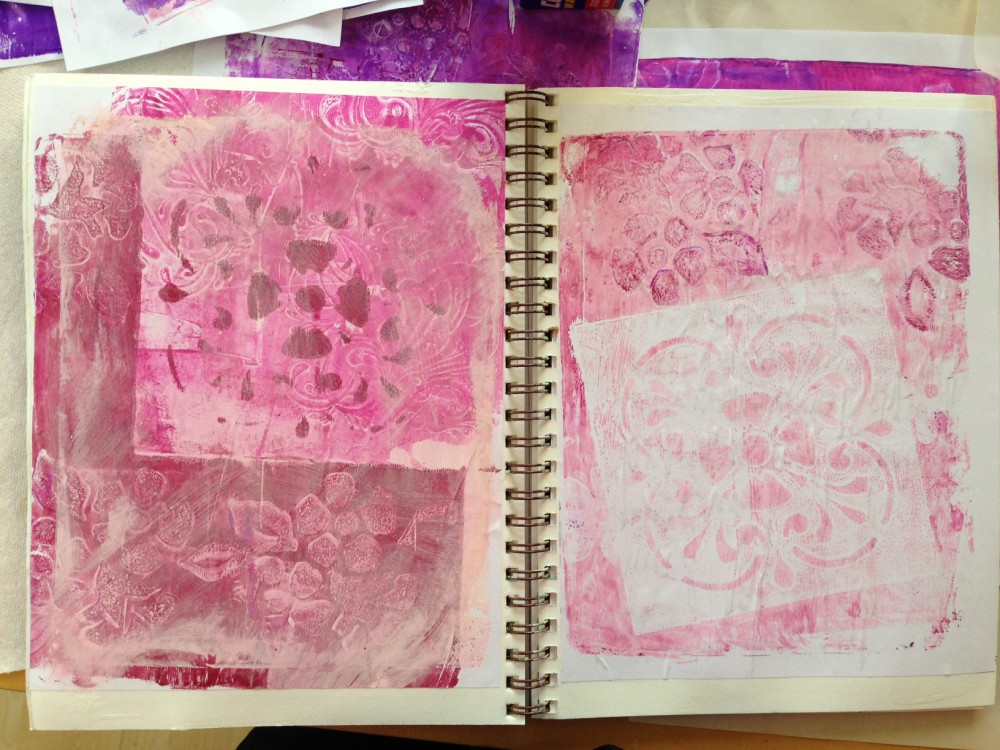 Gelli Plate Background 2